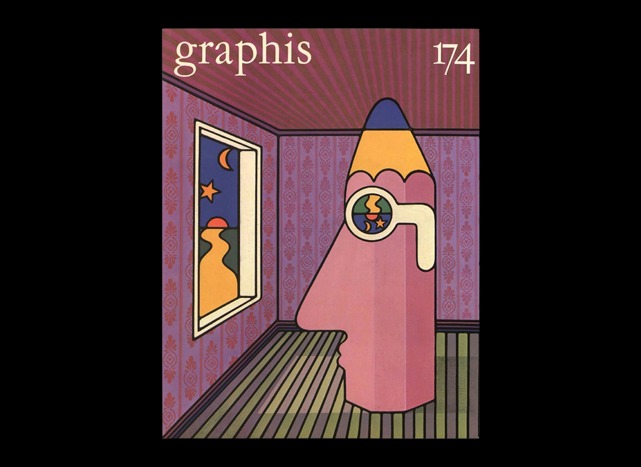 Figure 1: Les Mason, _Graphis_ #174, 1975.